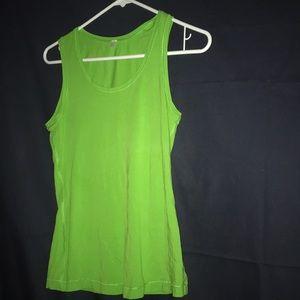 Green lululemon tank